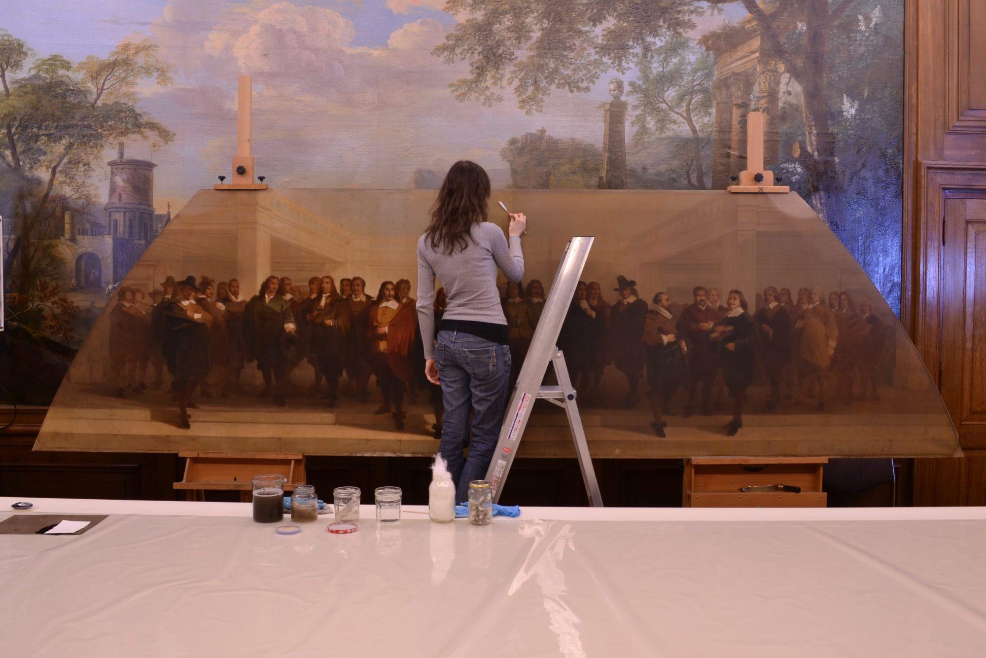 Schilderijenrestauratie den Brok